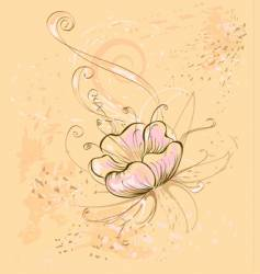 Beige flower vector