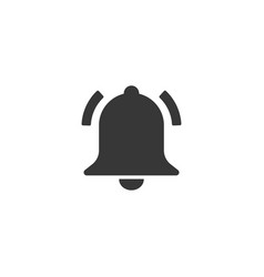 Bell icon simple flat style vector