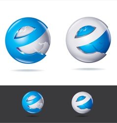 Blue techno icon vector