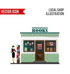 bookstore mall Books shop building vector image