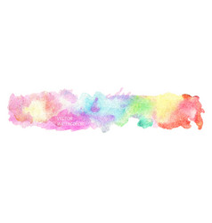 bright watercolor rainbow stain drips vector image