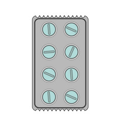color image cartoon pack for rounded pills vector image