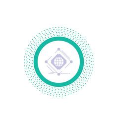 Complex global internet net web glyph icon vector