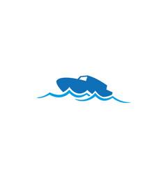 Creative boat wave logo vector