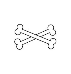 Crossbones icon vector