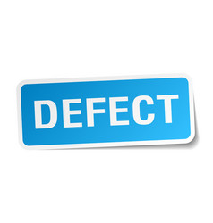 Defect square sticker on white vector