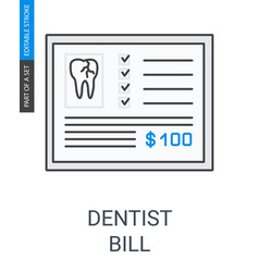 dentist bill icon vector image