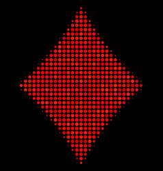 Diamonds suit halftone icon vector