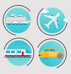 different types transportation business vector image