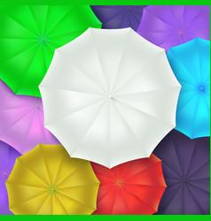 different umbrellas top view concept art vector image