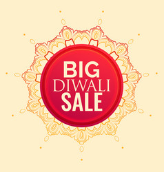 diwali sale poster design with mandala decoration vector image
