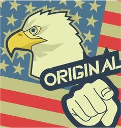 Eagle original america vector image