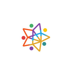Education graduate logo icon isolated elements vector