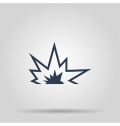 Explosion icon concept for vector image