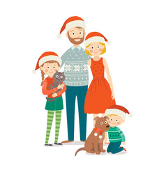 family celebrations portrait happy family at vector image