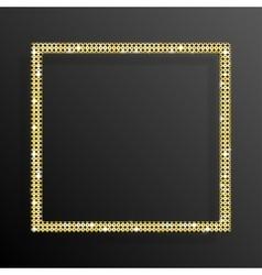 Frame Gold Sequins Square Glitter sparkle vector image