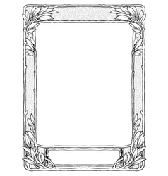 Frame with laurel for portrait black isolated vector