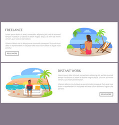 Freelance and distant work page vector