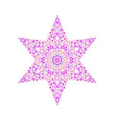 Geometrical abstract gemstone star polygon vector