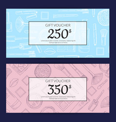 gift card vouchers for beauty products vector image