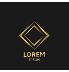Golden business logo vector image
