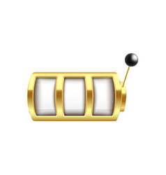 Golden slot machine with three blank spin elements vector