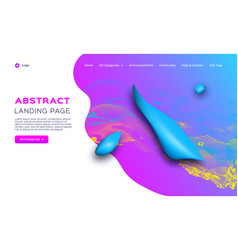 gradient fluid shapes futuristic geometric vector image