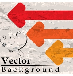 Grunge background with arrows vector image