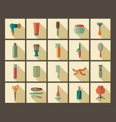 hairdresser accessories and tools vector image