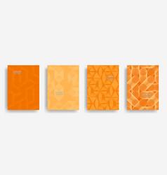 halftone shapes minimal geometric covers vector image