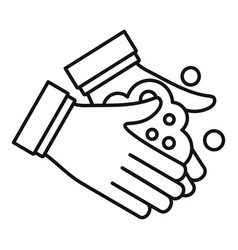 Hand washing icon outline style vector