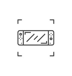 handheld game console linear concept icon vector image