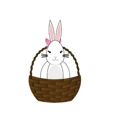 Happy easter bunny cartoon vector
