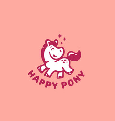 happy pony logo vector image