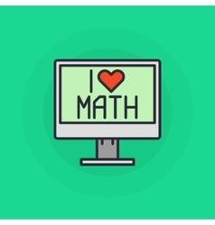 I love mathematics symbol vector
