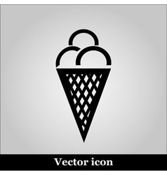 Ice cream Simple flat white pictogram vector