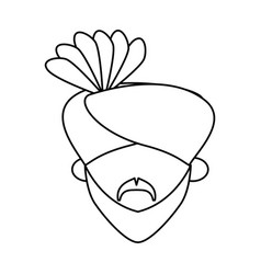 indian ethic man cartoon vector image