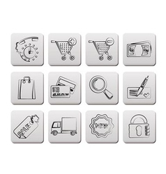 internet icons for online shop vector image