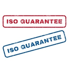 ISO Guarantee Rubber Stamps vector
