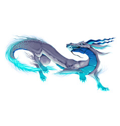 Isolated dragon in a dancing pose vector