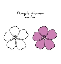 Isolated Purple Flower vector image