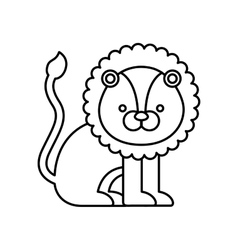 Lion cute animal icon vector