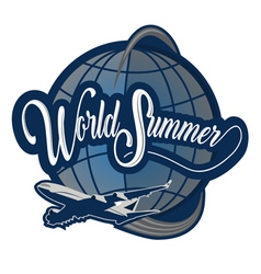 logo world summer vector image