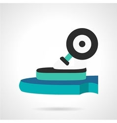 Longboard wheel flat icon vector