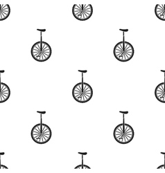 Monocycle icon in black style isolated on white vector image