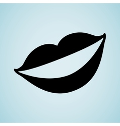 mouth icon design vector image
