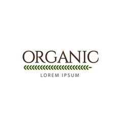 Organic logo template design vector