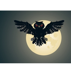 Owl and Full Moon2 vector image