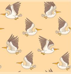 pelican seamless retro vector image