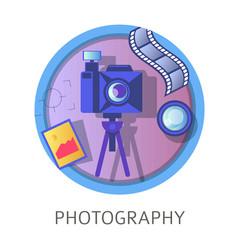 Photography studies subject at school university vector